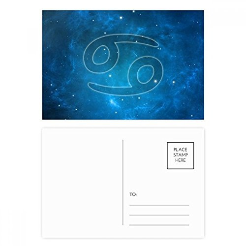 Starry Night Cancer Zodiac Constellation Postcard Set Birthday Thanks Card Mailing Side 20pcs by DIYthinker