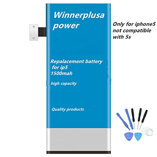 Wonderful power battery for iphone5 with 8 in 1 tools dual IC protection