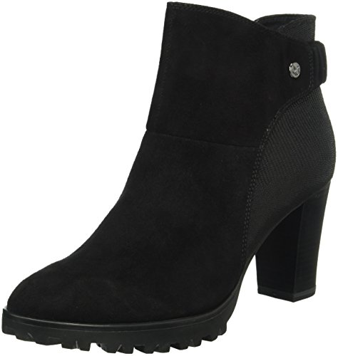 Black Comb 25408 Blk Women's Suede 39 Caprice Boots Ankle U1fWqw