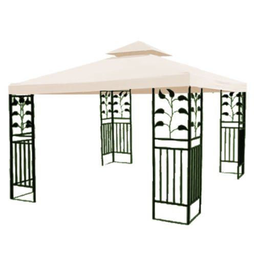 Double-Tier 10'x10' Replacement Canopy Gazebo Top Cover P...