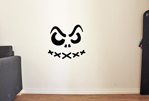 Advanced store Scary Face Pumpkin Vinyl Wall Decals Halloween Decor Stickers Vinyl Mural -