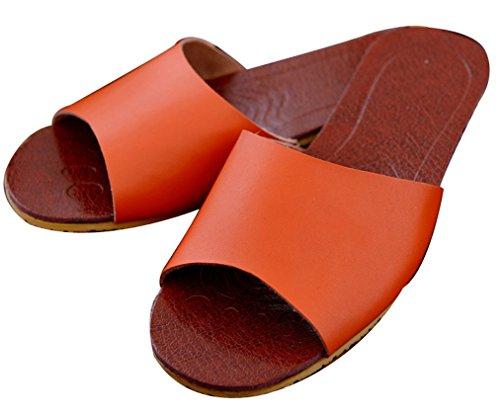Blubi Dames Zomer Snoep Kleur Comfortabele Lederen Slippers Dames Slippers Oranje