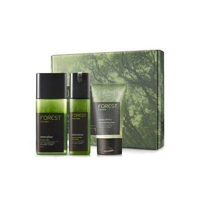 Innisfree, Forest for men grooming set (Fresh Skin 180ml + sebum & Trouble Zero Lotion 120ml)