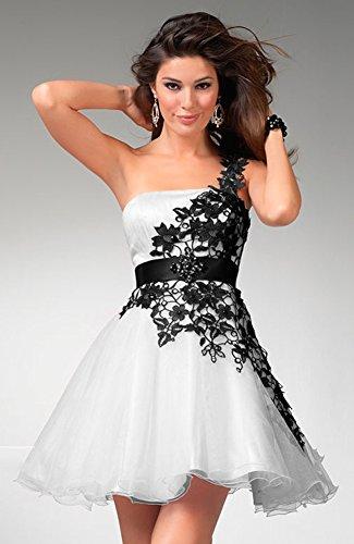 Vimans Mujer Trapecio Vestido Para Blanco 46 BYY6S7xwq