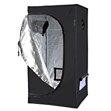 IDAODAN 24x24x48 inch Mylar Hydroponic Indoor Grow Tent for Plant Growing, 600D Waterproof Oxford Cloth,All Steel Structure, Eco-friendly