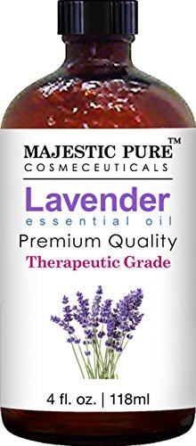 Majestic Pure Lavender Essential Oil, Therapeutic Grade, 4 fl. Oz