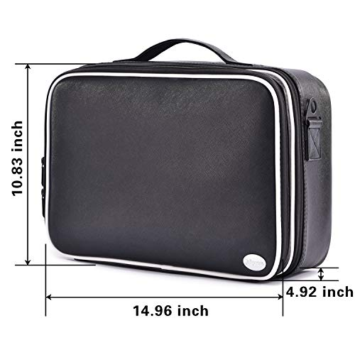 3c971c9ea982 Joligrace Makeup Bag Organizer 15 Inch Professional Cosmetic Train ...
