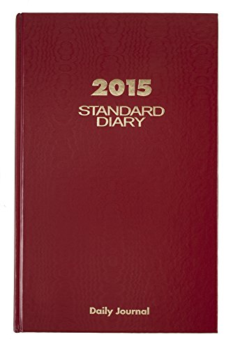 AT-A-GLANCE Standard Diary Daily Journal 2015, 7.68 x 12.13 Inch Page Size, Red (SD377)