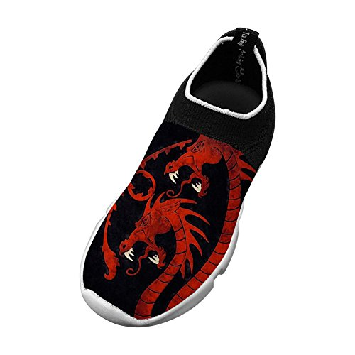 Child Legend Dragon Flyknit Shoes Sports Sneakers for Teen Boys Girls