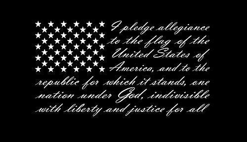 Truck Decal - American Flag Pledge of Allegiance Vinyl Truck Window Sticker Decal (13