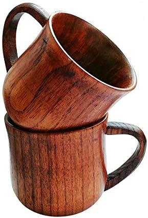 Amaoma Jujube Wood Cup Wooden Cup Wooden Tea Set Cup Natural Wood Mug for