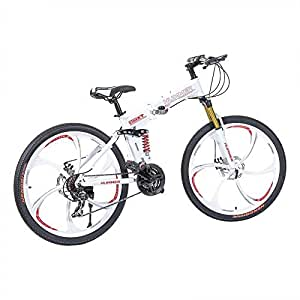 Hummer Folding Bicycle - White