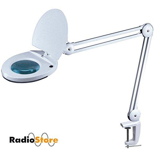 LED- Lupenleuchte RadioStore 1113/1115, 3 oder 5 Dioptrien Linse und 48 SMD-LEDs, Arbeitsplatzlampe / Lupenlampe mit 48 super hellen SMD-LEDs für Kosmetik, Modellbau und Hobby 5