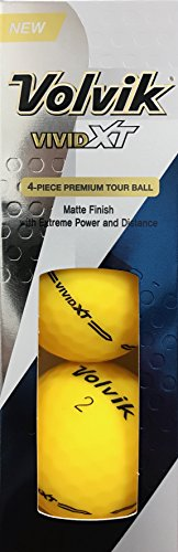 Volvik 2017 Vivid XT Yellow Golf Ball WLD Long Distance Matte Finish (One Sleeve) by Volvik