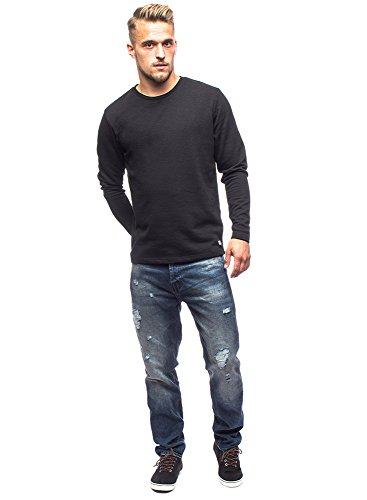 JACK & JONES - Sweat-shirt - Homme Bleu Bleu -  Beige - Medium