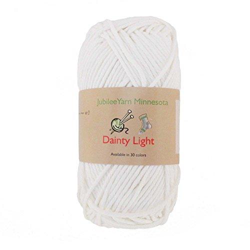 012 Yarn - JubileeYarn Medium Gauge Worsted Weight Yarn - Dainty Light - 2 Skeins - 100% Cotton - Icicle - Color 012 -