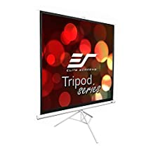 Elite Screens Tripod, 85-inch, Adjustable Multi Aspect Ratio Portable Pull Up Projection Projector Screen, T85NWS1