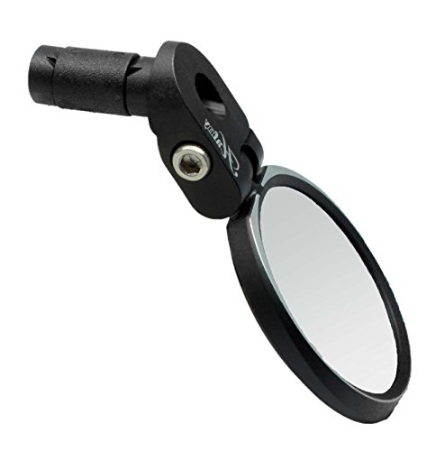 - Hafny Bar End Bike Mirror, HD, Blast-Resistant, Glass Mirror, HF- MR090S (Automotive Grade Glass)