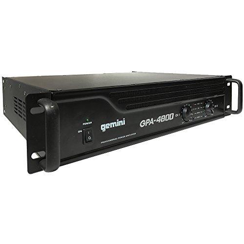 Gemini GPA-4800 4000W Professional DJ Power Amplifier (Amplifier 4000 Watts)