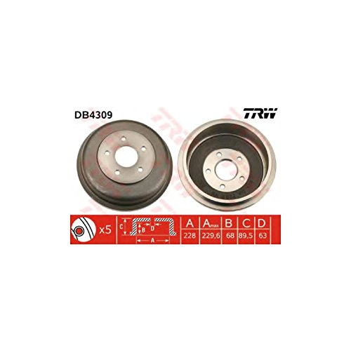 TRW DB4309 Brake Drums: