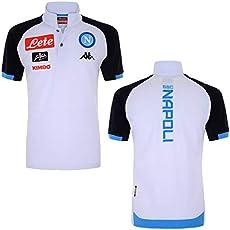 133eb6c64c9a4 2018-2019 Napoli Cotton Polo Football Soccer T-Shirt Jersey (Grey)