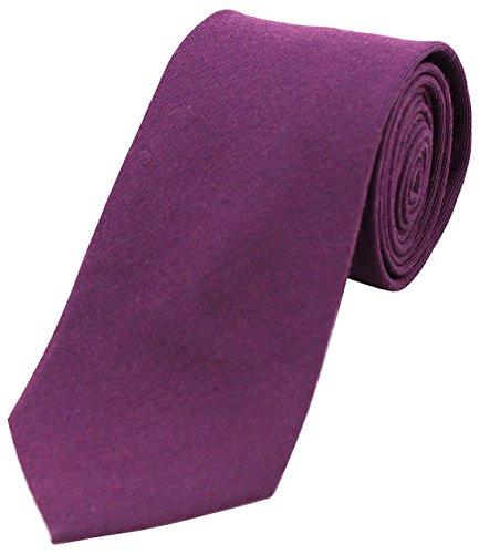 Rich Soprano Purple Tie Wool Plain TBvqp