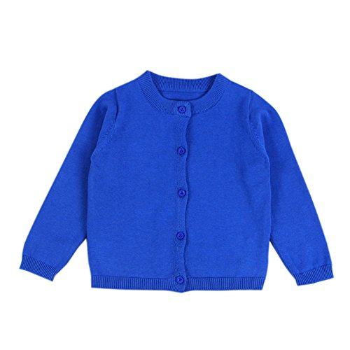 XUNYU Baby Girls Cardigan Sweaters Button Down Candy Color Toddler Spring Coat Knits Outerwear 1-5T (Girls Sweater Cardigan Toddler)