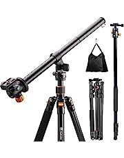 TARION professioneel driepootstatief camerasistatief reisstatief, zwart, Zwart