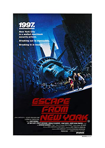 Escape from New York (Kurt Russell, Adrienne Barbeau, 1981) Movie Poster - Size 24