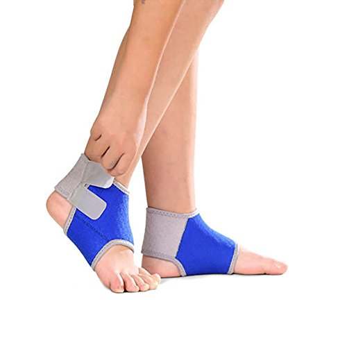 Sport Unisex Child Ankle Brace, Fitness Adjustable Breathable Non Slip Sleeve Double Magic Stick Compression Ankle Support Wraps for Sport, Ankle Sprain, Plantar Fasciitis, Injury Recovery