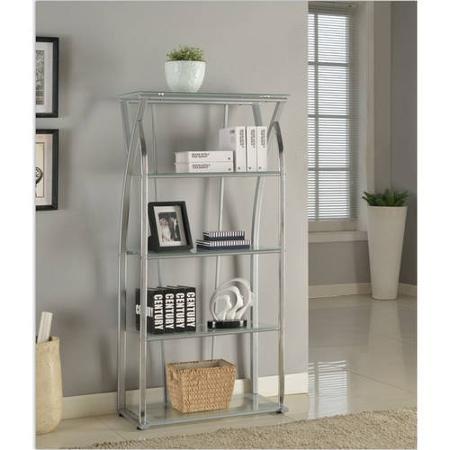 Tustin Bookcase, Silver