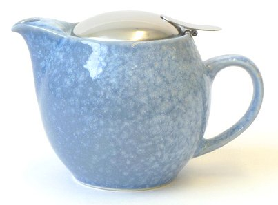 Bee House Ceramic Round Teapot (Crystal Blue)