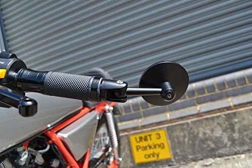 Alta Calidad Negro Redondo Motocicleta Aluminio Plegable Espejo Manillar