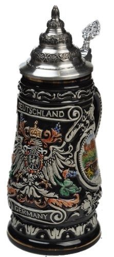 Beer Stein by King - Germany (Deutschland) CoA Relief Beer Stein Black 0.4l Limited Edition by KING