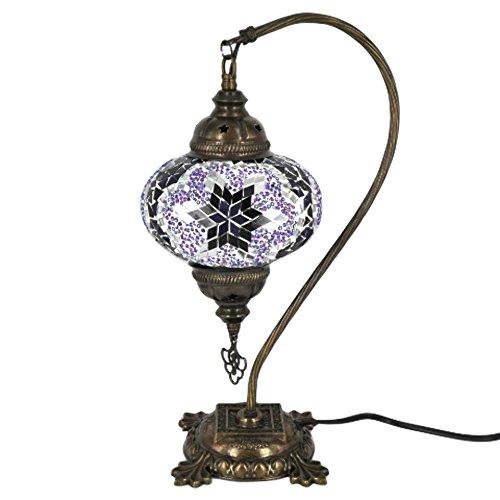 Turkish Mosaic Camel Neck Lamp - 9