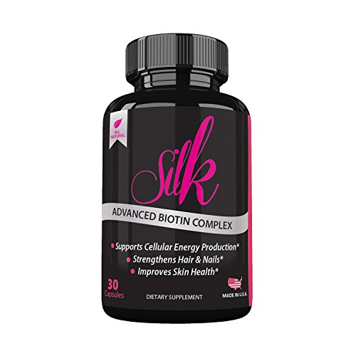 Silk Advanced Biotin Complex- Promotes Stronger, Longer, Hair-Healthier Skin- Ultimate Nail Strength