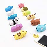 12-Pack LEHIAMZ Charging Cord Saver Mini Cartoon Charging Cable Protector for iPhone USB Cable