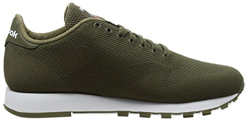 army Verde Ultraknit Classic Green white Leather Uomo Sneaker Reebok qYHfXf