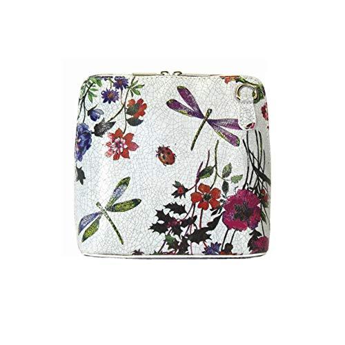 Red Door Shop, Sac pour femme à porter à l'épaule petit, Blanc/bleu marine (Blanc) - PS14 Flower Grey