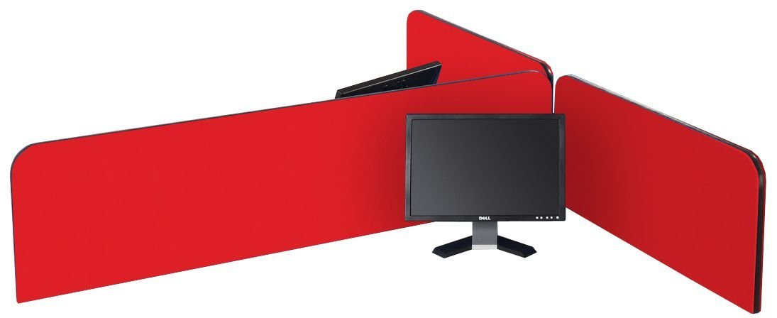 Metroplan 400 x 1400 mm BusyScreen Curve Desk Screen - Cyan BA4014G/CY
