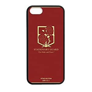 Custom Attack on Titan Design PC and TPU Phone Case Cover Laser Technology for iPhone 5,5S