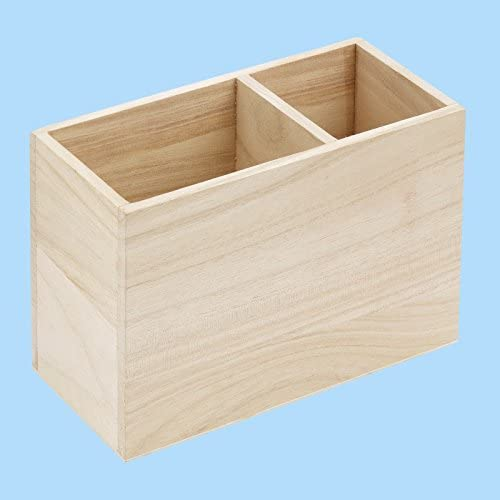 Holz Stiftebox, 16 x 8 x 11 cm