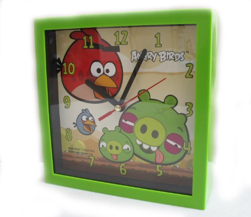 """""""HelloThailand"""" REALLY NICE ANGRY BIRD - WALL CLOCK IN GREEN COLOR - Licensed Angy Birds - Giftland Co., Ltd"""