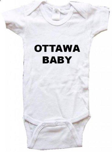 OTTAWA BABY - City Series - White One Piece Bodysuit - size Medium (12-18M) ()
