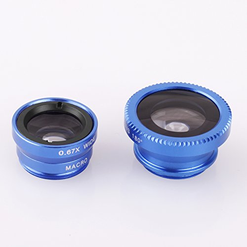Universal 3-in-1 180°Fisheye Lens (Blue) - 5
