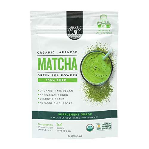 Jade Leaf - Supplement Grade Organic Japanese Matcha Green Tea Powder - Smoothie Booster - USDA Certified, Authentic Japanese Origin - Antioxidants, Energy [100g] (Best Green Tea Powder For Smoothies)