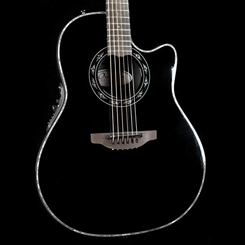 Ovation American 6 String Acoustic-Electric Guitar, Right, Gloss Black (C1869LX-5X)