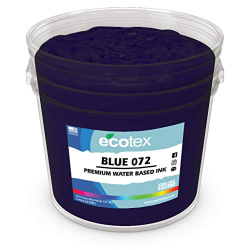 Ecotex Blue 072 Water Based Discharge Ink for Screen Printing - Non Phthalate Formula for Fabric/Textiles - Gallon-128 oz.