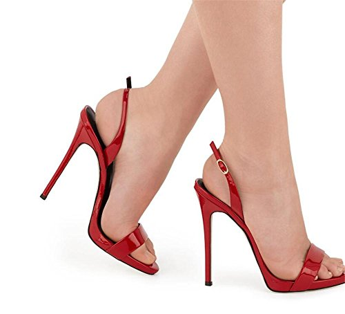 Taille Xie Escarpins Femmes À Stiletto eu39 Club Robe Red 35 44 Party Sandales Chaussures rr8Y6U