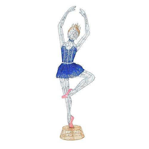 Twinkling Tinsel Ballerina LED Lighted 78 Inch Indoor/Outdoor Decor by Home Accents Holiday (Image #3)